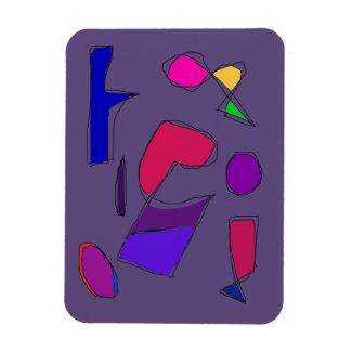 Dark Purple Gray Magnet
