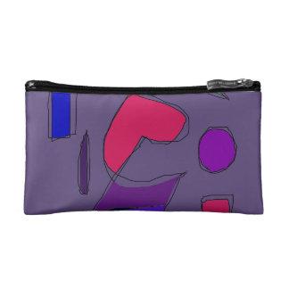 Dark Purple Gray Makeup Bag