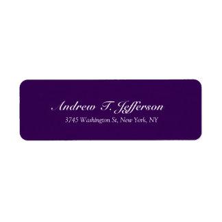 Dark Purple Handwriting Professional Personal Label