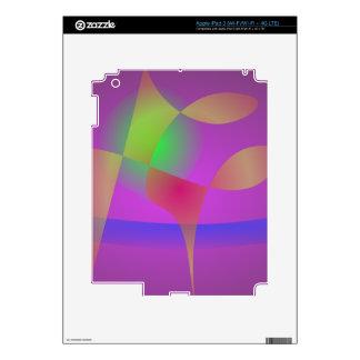 Dark Purple Happiness Skin For iPad 3