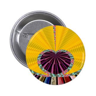 Dark Purple Heart in a Platter Pinback Button