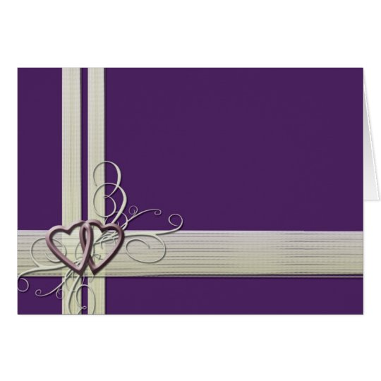 Dark purple heart scroll card