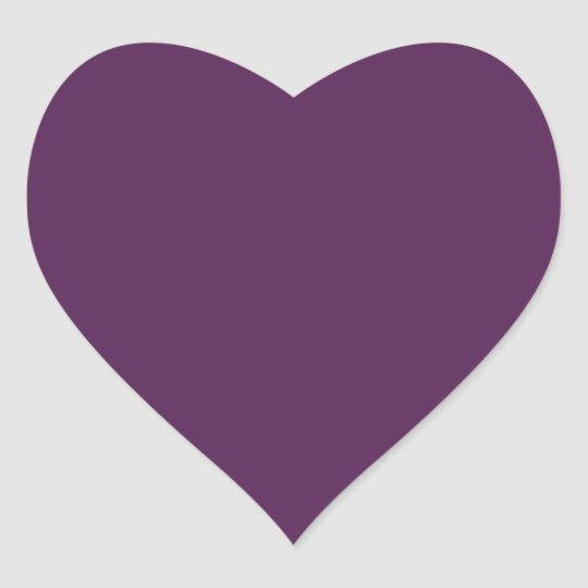 Dark Purple Heart Sticker