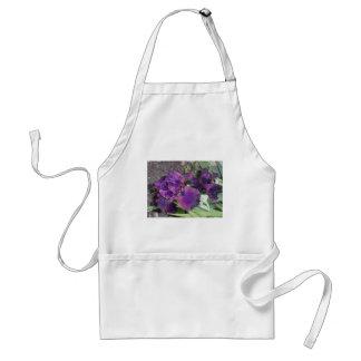 dark purple iris adult apron