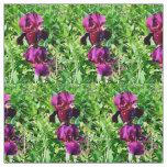 Dark purple iris fabric