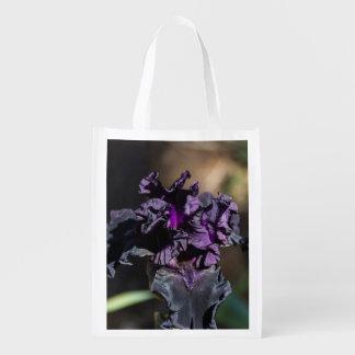 Dark Purple Iris Reusable Grocery Bag