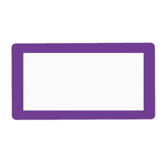 dark purple label