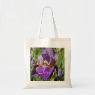 Dark Purple Lavender Iris Tote Bag