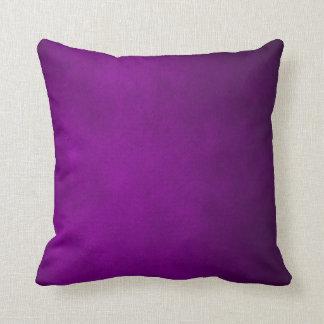 Dark Purple Leather Plush Throw Pillow