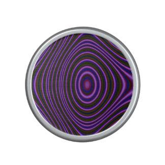 Dark purple line pattern bluetooth speaker