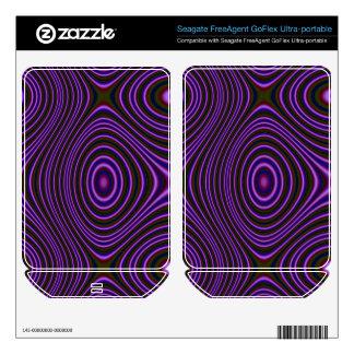 Dark Purple Line Pattern FreeAgent GoFlex Decals
