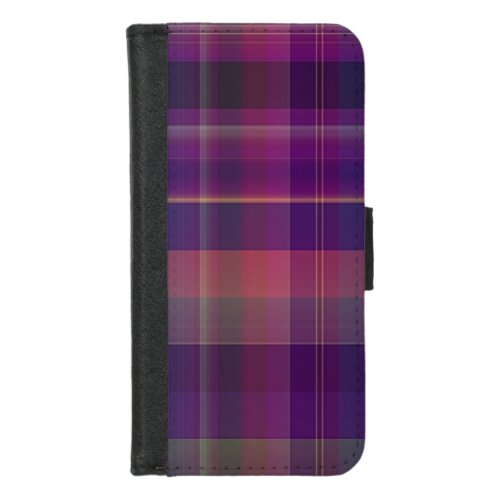 Dark Purple Madras Plaid Stripe Pattern Phone Case