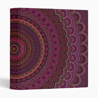 Dark purple mandala 3 ring binder