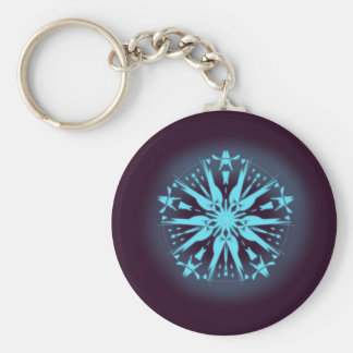 Dark Purple Mandala Keychain