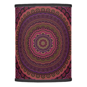 Indian lamp shades zazzle dark purple mandala lamp shade aloadofball Image collections