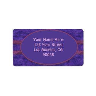 dark purple mauve texture label