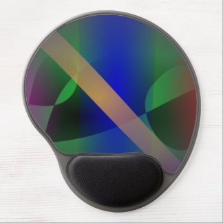 Dark Purple Moderate and Primitive Abstract Art Gel Mouse Pad