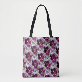 Dark Purple Moth Orchids Tote Bag