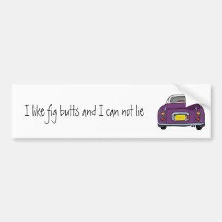 Dark Purple Nissan Figaro Car Bumper Sticker