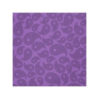 Dark Purple Paisley. Canvas Print