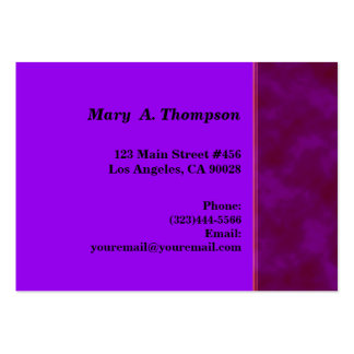 dark purple pink texture side border business cards