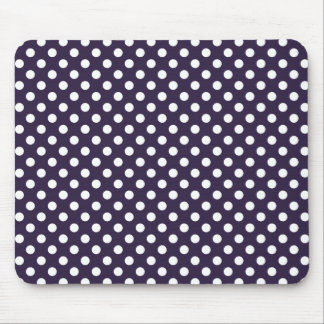 Dark Purple Polka Dot Mousepad