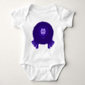 Dark Purple Pom Pom Pal Baby Bodysuit