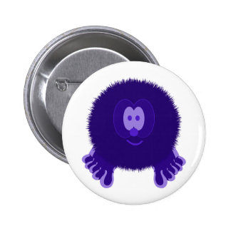 Dark Purple Pom Pom Pal Button