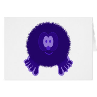 Dark Purple Pom Pom Pal Card