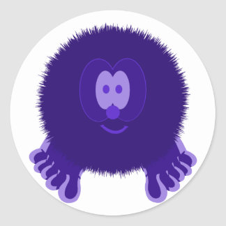 Dark Purple Pom Pom Pal Stickers