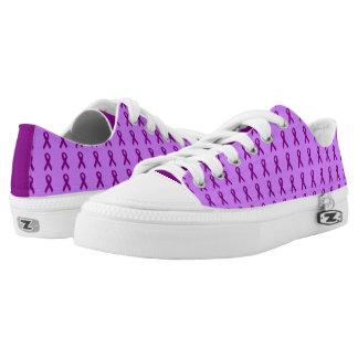Dark Purple Ribbons Lo Top