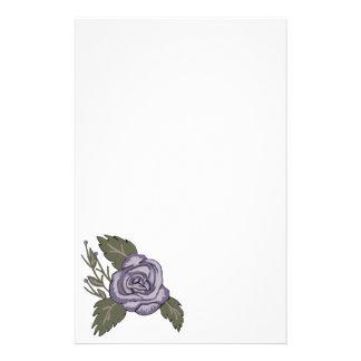 Dark Purple Rose Stationery