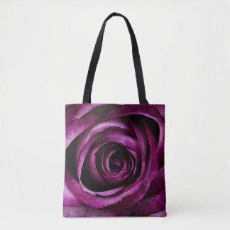 Dark Purple Rose Tote Bag
