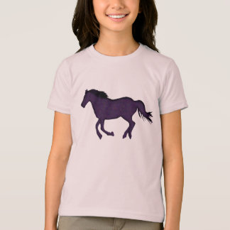 Dark Purple Running Horse for Horse Crazy girl T-Shirt