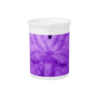 Dark Purple Sand Dollar Beverage Pitcher