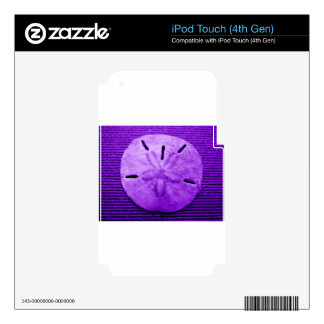 Dark Purple Sand Dollar Skin For iPod Touch 4G