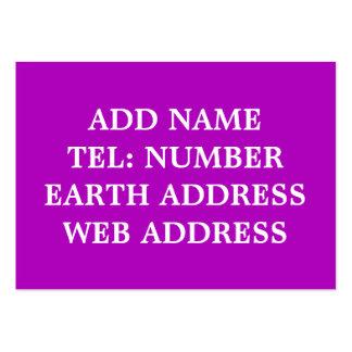 Dark Purple solid color business card