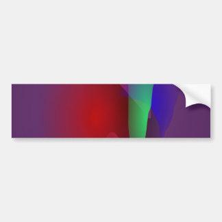Dark Purple Space Bumper Sticker