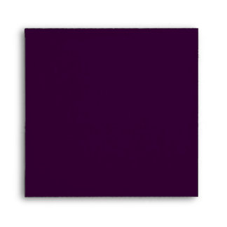 Dark Purple Square Scrollwork Monogram Envelopes