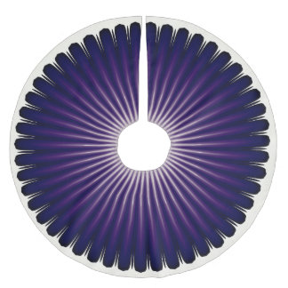 Dark Purple Starburst Pattern Christmas Tree Skirt