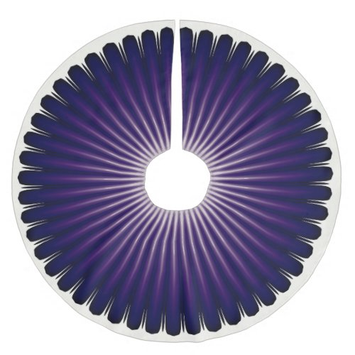 Dark Purple Starburst Pattern Christmas Tree Skirt