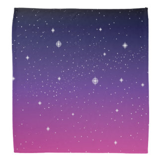 Dark Purple Starry Night Sky Bandana