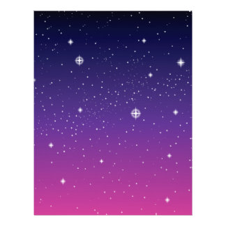 Dark Purple Starry Night Sky Flyer