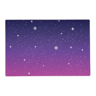 Dark Purple Starry Night Sky Placemat