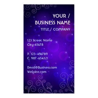 Dark Purple Swirly Business Card