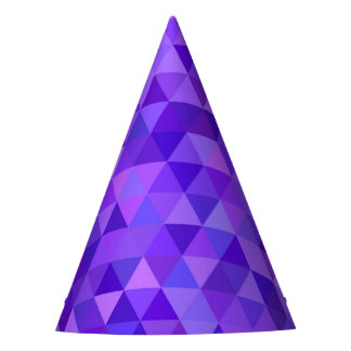 Dark purple triangle pattern party hat