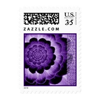 Dark Purple Wedding Flower Postage