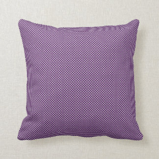 Dark Purple With Simple White Dots Pillow