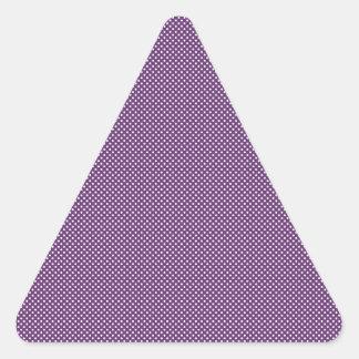 Dark Purple With Simple White Dots Triangle Sticker