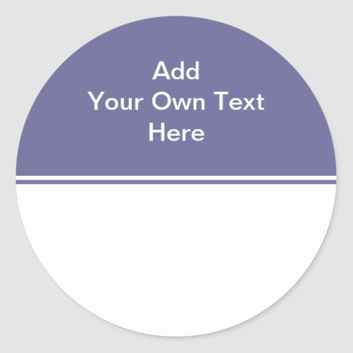 Dark purple with white area and text. stickers